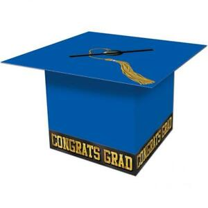 Details About Grad Cap Graduate School Class Graduation Party Gift Card Festival Board Box