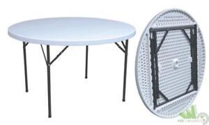 Tavoli Con Gambe Richiudibili.Tavolo Tondo Rotondo Con Gambe Richiudibili Bianco In
