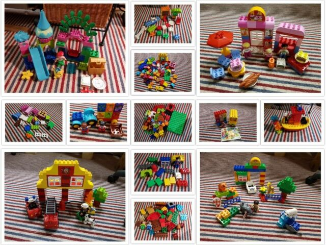 lego duplo tractor fire station bus boat superman peter pan ariel dog you choose
