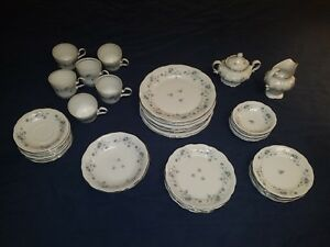 Bavaria-Johann-Haviland-Blue-Garland-45-Piece-Dinner-Set-RARE-China-Dinnerware