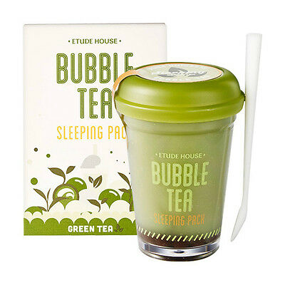 *ETUDE HOUSE* Bubble Tea Sleeping Pack 100g (Green Tea) - Korea Cosmetic