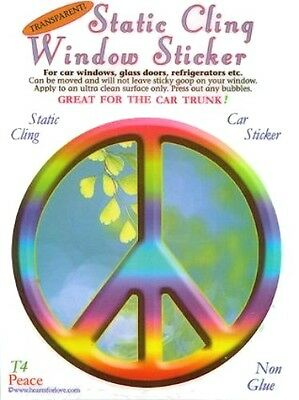 """""""Peace Sign"""" Static Cling Window Sticker"""