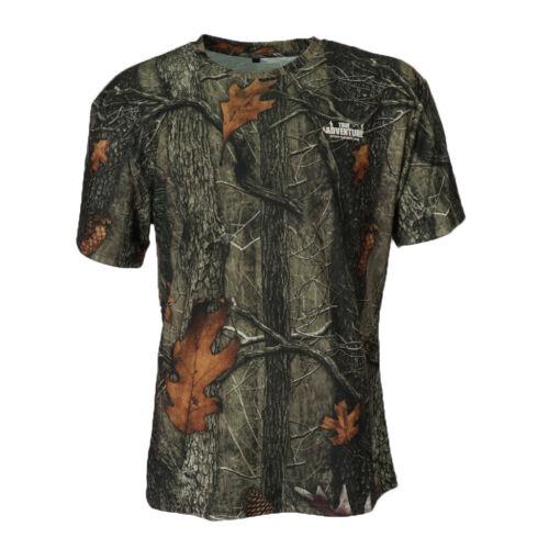 Herren T-Shirt Rundhals Ausschnitt Kurzarm Shirt Camouflage Rundhals T-Shirt