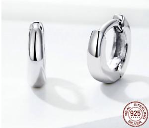 Silber 925er Kleine Bunte Creolen Mini Hoops mit Zirkonia Steinen Echt