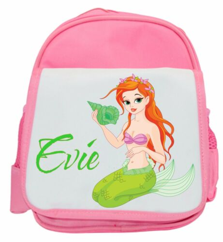 Bag Ideal for Nursery School Personalised Girl/'s Mermaid Ruck Sack Back Pack