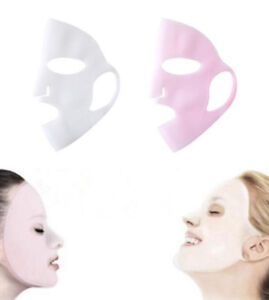 Details about Silicone Reusable Beauty Face Moisturizing Mask Cover Tool  for Sheet Mask Random
