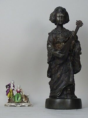 Other Asian Antiques Scultura Geisha Bronzo 1800 Xix Liberty Cina Giappone Sc Impero Napoli Deco Ming Packing Of Nominated Brand Antiques