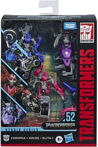 Série Transformers Studio 52 Revenge of the Fallen Arcee Chromia Elita 3 Pack