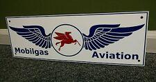 Mobilgas Mobil Aviation Gasoline Gas Oil sign