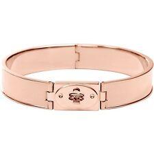NEW-FOSSIL VINTAGE ROSE GOLD TONE S/STEEL TURNLOCK HINGE BRACELET JF00593791M