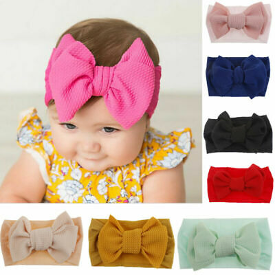 3pcs Baby Kids Newborn Infant Hair Band Princess Big Bow Turbon Knot Headband