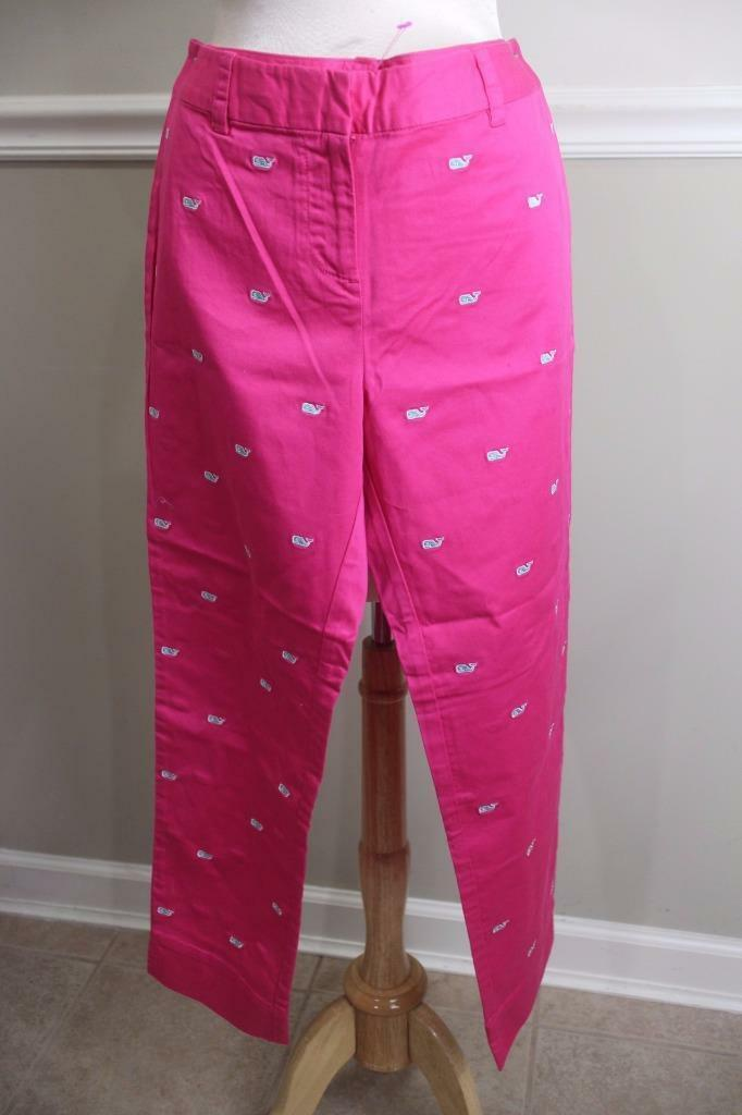 (z) NWT VINEYARD VINES WHALE ANKLE PANT SIZE 4 PANT100