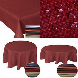 Lotus-Premium-Gartentischdecke-Farbe-Groesse-waehlbar-Tischdecke-Einfarbig-UNI