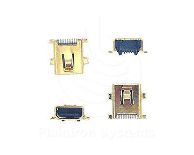 4 Stck. USB-Buchse 8-Pin Mini vergoldet SMD für Smartphone, Kamera, Navi, MP3