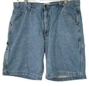 40-Herren-Vintage-Signature-by-Levi-Strauss-Carpenter-Denim-Shorts-Blau-Levi-039-s