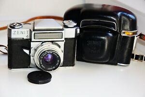 """Sehr seltene Zenit - 4 Export sowjetischen Spiegelreflex 35mm Filmkamera mit S Objektiv """"Vega - 3"""" wie"""