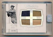 2016 Flawless * LOU GEHRIG * QUAD Game Used Bat Patch Jersey Relic * #15/25