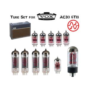 Tube Set fits Vox AC30 6TB  and Vox AC30 6TBX JJ Electronics Vacuum Valves