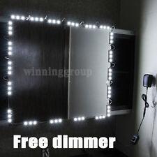 10' LED Mirror Light Kit Hollywood Makeup Mirror Light, Vanity White with Dimmer
