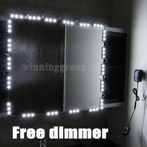 10 LED Mirror Light Kit Hollywood Makeup Mirror Light, Vanity White with Dimmer