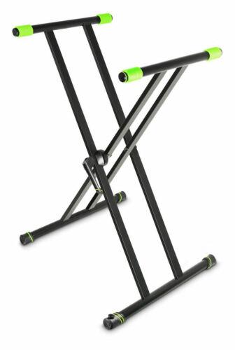 Gravity KSX 2 Keyboardständer X-Form Doppelstrebig Nivellierfuß Ständer Stativ