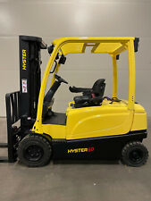 Hyster 6000 Lb 3 Stage Mast Electric Pneumatic Tire Forklift Reconditioned Nice