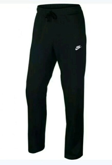 nike mens open hem club cotton jersey light sweatpants