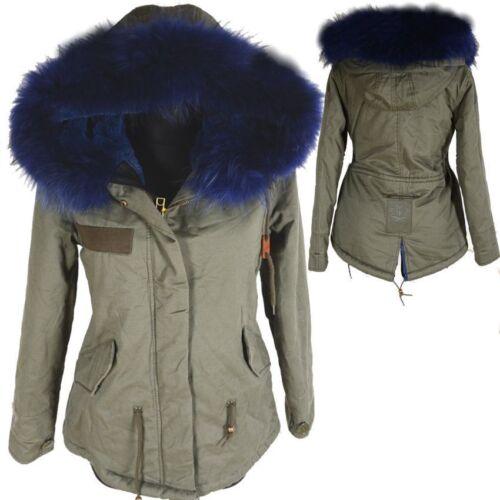 34 L invernale S con Parka M 36 vera cappuccio Giacca 42 foderata calda 38 40 cappotto pelliccia TaRapzUWB