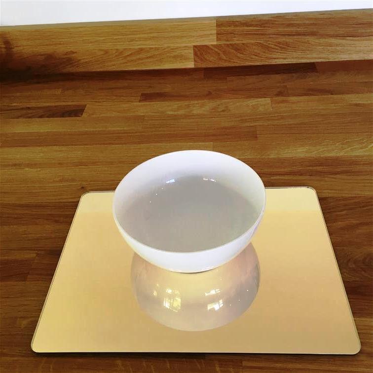Rectangulaire Ensemble de Set de table - Miroir doré