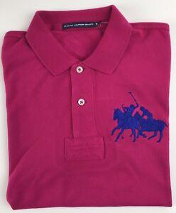 Détails sur Ralph Lauren Femmes Coton Rose Foncé Polo Taille M