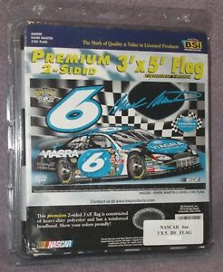 MARK-MARTIN-6-NASCAR-Signature-Collectors-Edition-3x5-ft-Premium-2-Sided-Flag