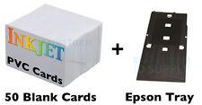 Inkjet PVC ID Card Starter Kit - Epson R200 & R300 - 50 IJ PVC Cards & Card Tray