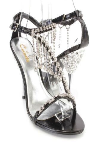 NEW White Black Blue Gold Peep Toe Strappy Faux Leather Wedding High Heels