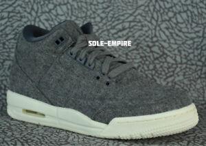 Nike-Air-Jordan-3-Retro-Wool-BG-861427-004-GS-Dark-Grey-Sail-III-NEW-DS-KIDS