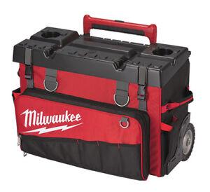 Image Is Loading Milwaukee 48 22 8220 Hardtop Rolling Tool Bag