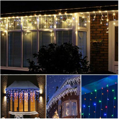 5-10m LED Lichtervorhang Weihnachts Außen Party Fenster Beleuchtung Lichterkette