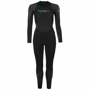2832c2b6 Gul Womens Core Full Wetsuit High Neck Zip Mesh Quick Drying Stretch ...