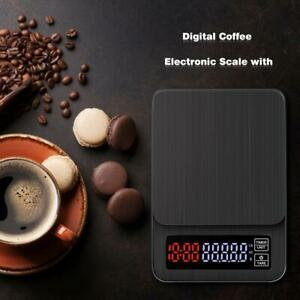 Coffee-Bean-Scale-Kitchen-Drip-Timer-Digital-LCD-Electronic-High-Precision-SALE