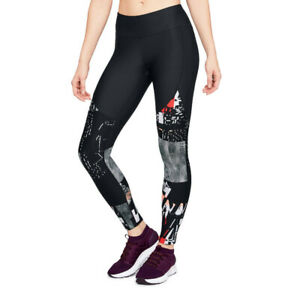Under-Armour-Femme-Vanish-Imprime-Leggings-Pantalon-Pantalon-noir-sport