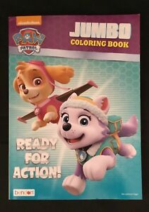Details About Brand New Paw Patrol Ready For Action Jumbo Coloring And Activity Book