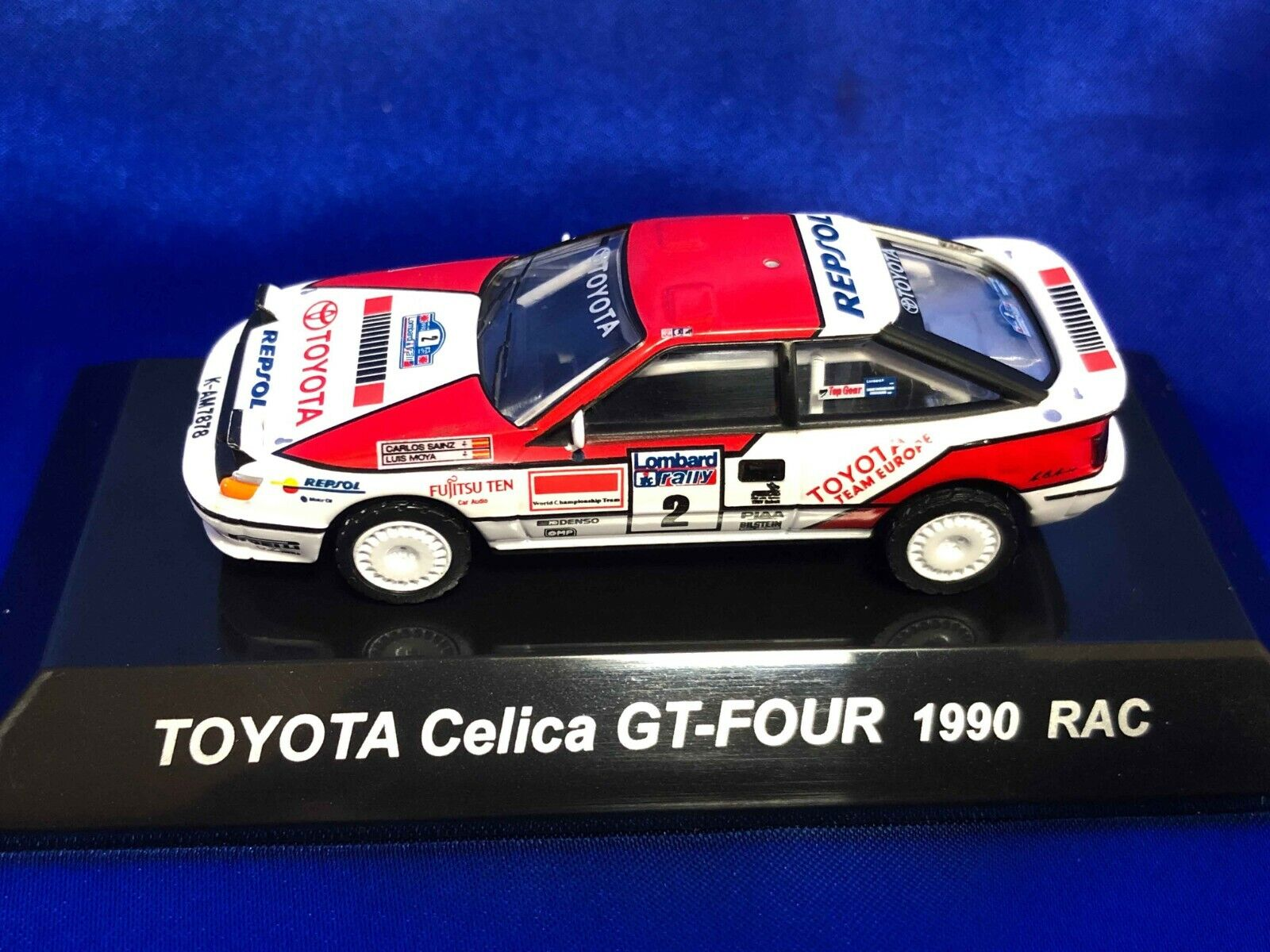 CM'S 40/40 TOYOTA Celica GT FOUR 40990 RAC Rally Car With blister case  Tracking