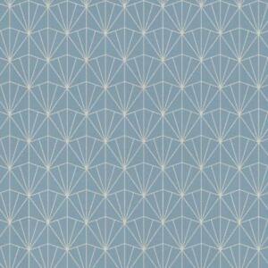 Rasch Midland Art Deco Bleu Geometrique Argent Metallique Non Tisse