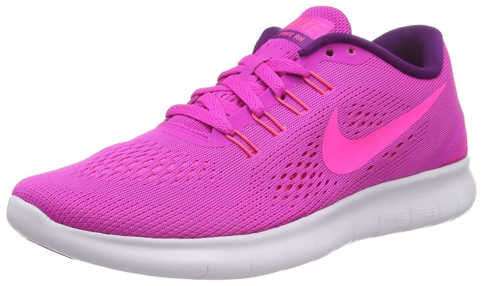 Nike Womens Free RN Running shoes (9.5 B(M) US, Fire Pink bluee Glow Light Vio...
