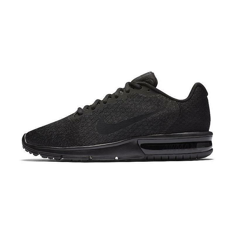 Men's 11 Nike Air Max Sequent 2 Running shoes Black Black-Black 852461 015 NEW