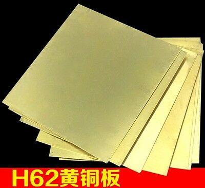 H62 1pcs Brass Metal Sheet Plate 1mm x 100mm x 100mm Brass
