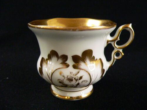 TPM Altwasser m Golddekor mit Abrieb Schlesien um 1840-1895 Kaffeegedeck 2tlg
