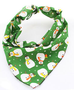 Large-Green-Snowman-Christmas-Dog-Bandana-Tie-on-Classic-Stocking-Filler-Xmas