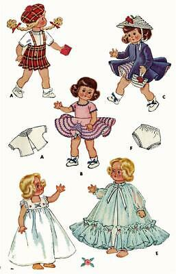 """Doll Clothes PATTERN 8799 for 7/"""" 8/"""" Ginny Toni Posie 49ers doll Gigi Lucy Coco"""