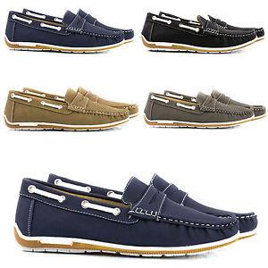 Scarpe-Uomo-Mocassini-Polacchini-Pelle-PU-Stivali-Francesine-Classiche-Shoes-T36