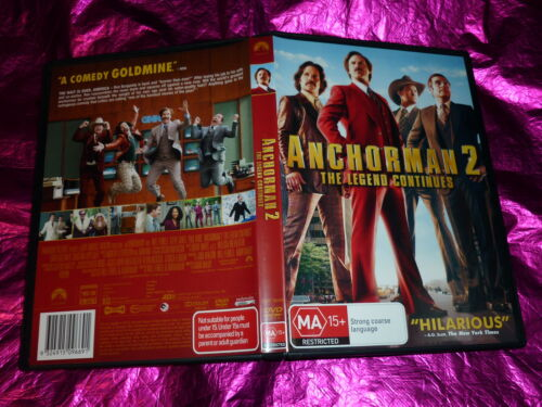 1 of 1 - ANCHORMAN 2 THE LEGEND CONTINUES : (DVD, MA15+)